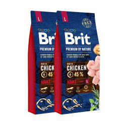 Brit Premium by Nature Adult Large Breed 2x15 kg