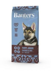 Visán Banters Dog  Puppy & Junior Chicken & Rice 15 kg