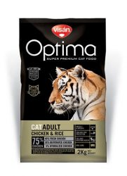 Visán Optimanova Cat Adult Chicken & Rice 2 kg